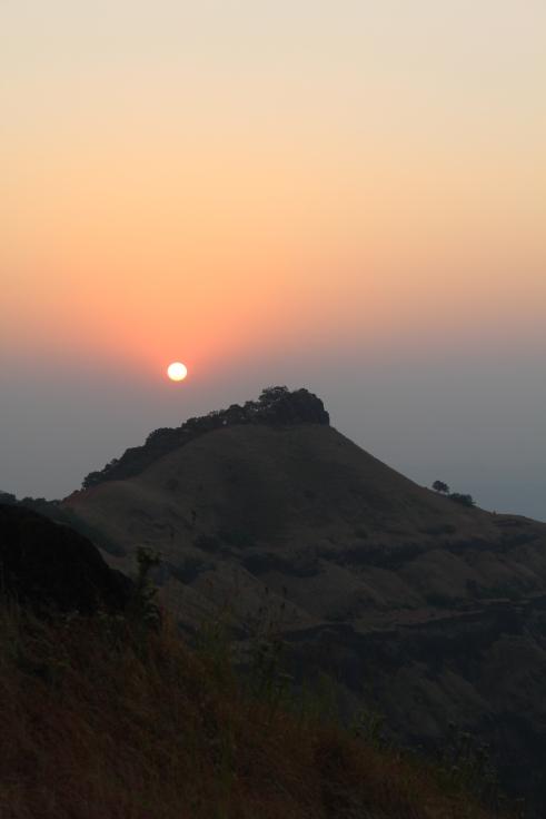 Sun rise from Rajgad