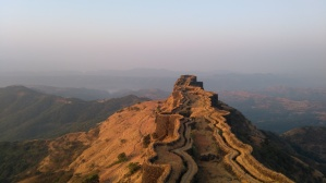 One side of Rajgad fort